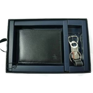 Penguin Mens Leather BiFold Wallet With Key Fob